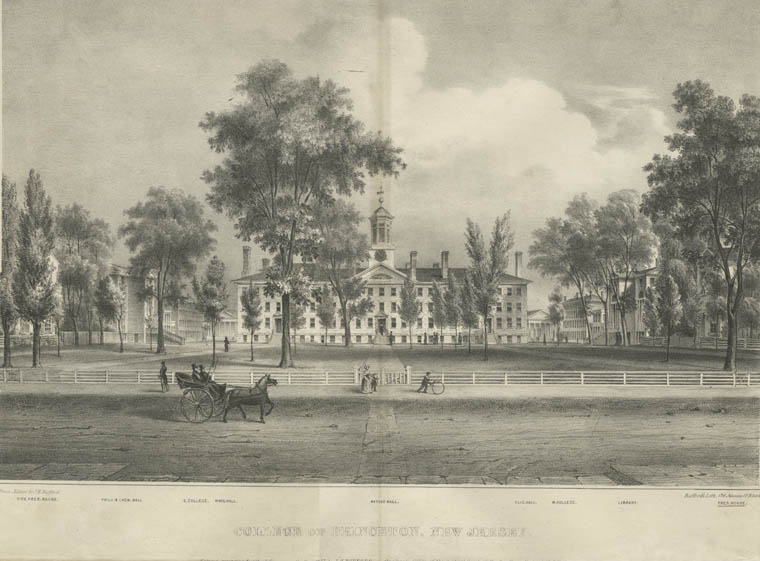 Fascinating Historical Picture of College of New Jersey in 1837