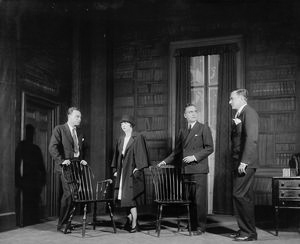 Donald MacDonald as Sam Evans, Pauline Lord as Nina, Ralph Morgan as Charles Marsden and Blaine Cordner as Edward Darrell.