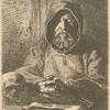 Tête de moine en prière.]