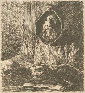 [Tête de moine en prière.]