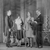L to R: Louis Veda as Marius (?), Sylvia Field as Helena, Frieda Inescort as Sulla, a robotess, and Earle Larimore as Harry Domin.