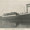 "The R. M. S. P. [Royal Mail Steam Packet] ""Berbice"", just after launching."