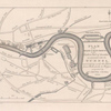 Plan of the Tunnel with reference to the main roads and objects on the eastern part of London.