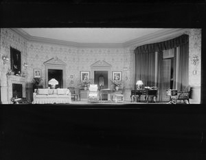 "Set designed for ""The sacred flame"" produced by Messmore Kendall and Gilbert Miller at the Henry Miller Theatre (1928)."