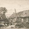 Paysage : maison de paysans.]