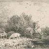 Paysage et animaux.]