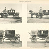 "Fig. 22. - The ""Glass coach of the Prince of Wales; Fig. 23. - Full dress landau of the Prince of Wales; Fig. 24. - Full dress chariot of Field Marshal the Duke of Cambridge; Fig. 25. - Full dress coach of Field Marshal the Duke of Cambridge. Great Britain."