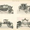 Fig. 26. - Coach of the Speaker of the House of Commons; Fig. 27. - Chariot of the Earl of Darnley; Fig. 28. - State chariot of George III; Fig. 29. - Coach of the Lord Chancellor of Ireland. Great Britain.