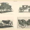 Fig. 46. - Travelling chariot of the Emperor Napoleon I. (Taken at Waterloo, 1815.); Fig. 47. - Coronation coach of the Emperor Napoleon I; Fig. 48. - Barouche of the Emperor Napoleon I. (Used at St. Helena.); Fig. 49. - Travelling barouche of the Emperor Napoleon III. (Taken at Sedan, 1871.). France.