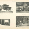 Fig. 50. - State carriage of Empress Marie Louise; Fig. 51. - Model of a dress carriage suspended from the roof, at the Cluny Museum, Paris; Fig. 52. - Sedan chair, 18th century; Fig. 53. - Model of carriage, with pillow seat for coachman, at the Cluny Museum, Paris. France.