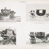Fig. 58. - The old state carriage of Kings of Prussia; Fig. 59. - Dress coach of King William I. of Prussia. (Built in London about 1852.); Fig. 60. - Hammercloth of the new state coach of King William I; Fig. 61. - Landau of the Empress Frederick, presented by the City of Koenigsburg, 1858. Germany.