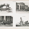 Fig. 82. - State black funeral hearse; Fig. 83. - Coronation coach drawn br eight white horses; Fig. 84. - State coach and horses; Fig. 85. - State sleigh, Bavaria. Austria.