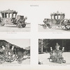 Fig. 90. - State coach; Fig. 91. - State coach; Fig. 92. - State carriage of King Louis II; Fig. 93. - State sleigh of King Louis II. Bavaria.