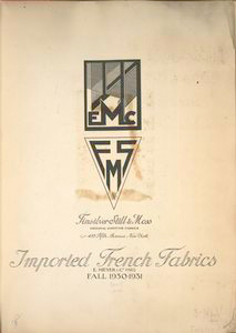 Imported French fabrics, E. Meyer & Co., Paris; fall, 1930-1931.