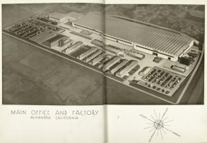 Main office and factory, Alhambra, California.