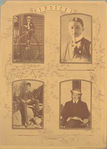 Tintypes: [1. Mr. Sloan ; 2. W.S. Knudsen (age 20) ; 3. Charles F. Kettering ; 4. Richard H. Grant]