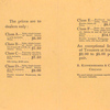Price list; B. Kuppenheimer & Co.; Chicago, Nov. 1, 1899