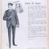 Class A: suits; No. 1. The new Bowdoin sack suit.
