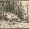 Paysage : troupeau de vaches.]