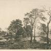 Paysage, d'après un croquis attribué à Van der Neer.