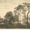 Paysage, d'après un croquis attribué à Van der Neer.]