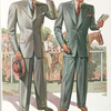 Model No. 703. Young men's three-button peaked lapel style; Model No. 704. Young men's two-button peaked lapel style.