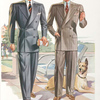 Model No. 705. Young men's double-breasted drape or lounge style; Model No. 706. Young men's double-breasted style.