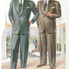 Model No. 730. Young men's two-button stout model; Model No. 731. Conservative two-button stout model.
