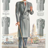 Model No. 741. Smart double-breasted topcoat.