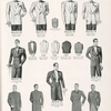 Suggestions for formal attire: double-breasted summer tuxedo; peaked lapel summer tuxedo; shawl collar summer tuxedo, full dress for formal evening; three-button clerical sack; clerical frock; Prince Albert frock; one-button cutaway frock; dress vest; clerical vest; cassock vest.
