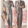 Model No. 903. Two button notch lapel style for young men; Model No. 904. Two button peaked lapel style for young men.