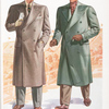 Model No. 929. Three button double-breasted overcoat, welt breast pocket, stitched edges; Model No. 930. Four button double-breasted overcoat, polo model, made to button on three buttons, split slives with tabs, patch pockets with flaps.