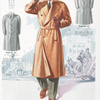 Model No. 933. Three button double-breasted belted raglan, top button does not button, split sleeves with cuffs, slash pockets; Model No. 934. Bal-raglan with military collar; Model No. 935. Smart raglan overcoat or topcoat.