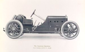 The American Speedster; Four cylinder, 60-70 h.p., $ 5,000.