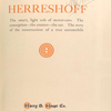 Herreshoff; Harry S. Houpt Co., New York City [Title page].