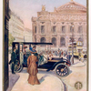 Société Lorraine Diétrich. [View of a busy city street: a woman joining her friend for a ride in a Lorraine Diétrich automobile.]