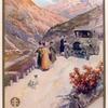 Société Lorraine Diétrich. [People driving their Lorraine Diétrich automobile in the mountains.]