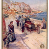 Société Lorraine Diétrich; [People travelling by their Lorraine Diétrich automobile at the seashore].
