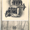 Franklin four-cylinder engine: upper view, exhaust side; lower view, intake side.