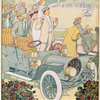 [Men and women watching the horse race from their Franklin automobiles.]