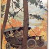[Riding in a Franklin automobile through the woods in autumn.]