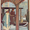 [People using the Franklin closed town-car for providing motor-cab services.]