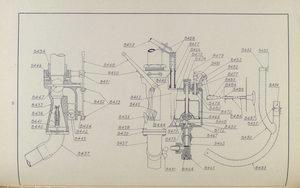 Plate No. 8 - Carburetor and hot air pipe [Drawing].