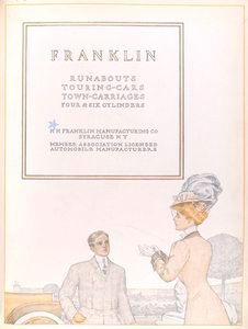 Franklin; Runabouts; Touring-cars; Town-carriages; Four & six cylinders.