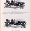 Type D Runabout $ 2850; Four cylinders, 28 horse-power; Type H Runabout $ 4000; Six cylinders, 42 horse-power.
