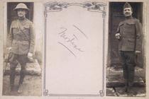 Photographs of World War I battlefields, captured German installations and allied installations