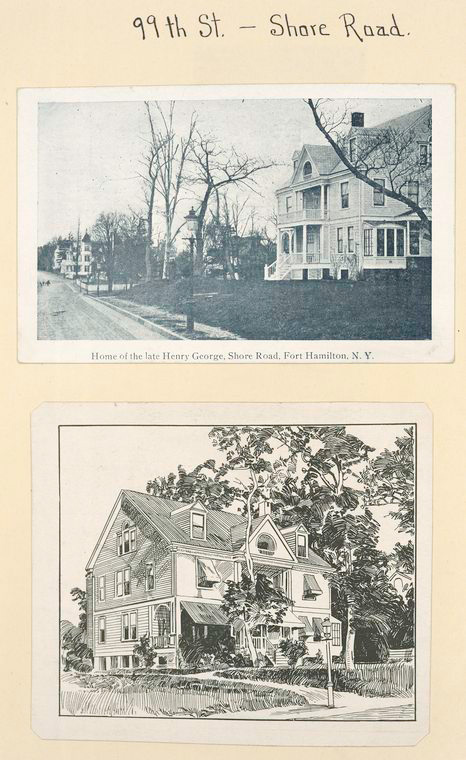 Home of the late Henry George, Shore Road, Fort Hamilton, N.Y.