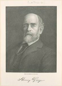 Henry George; Drawn and engraved by Peter Aitken.