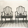 Mahogany chairs, Heppelwhite [i.e. Hepplewhite], used at Mt. Vernon.