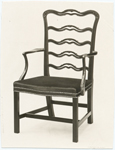 [Colonial American chair.